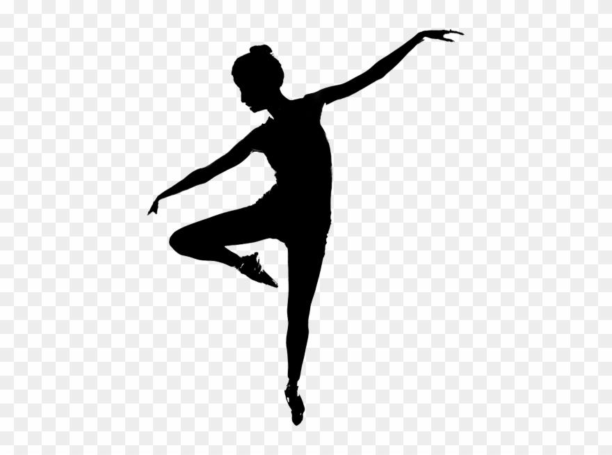 Contemporary Dance Dancer Silhouette Clipart (#802422).