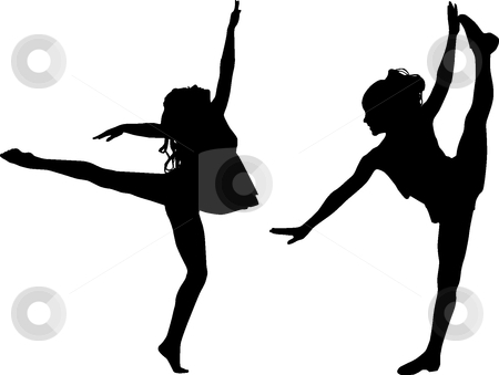 free printable kids dance silouttes.