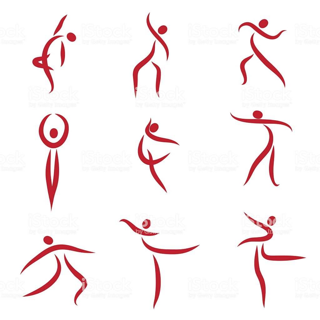 Dancing Abstract People Symbols Illustration Stock Illustration.