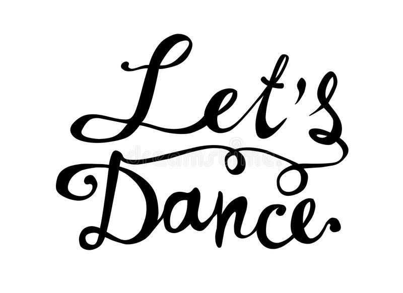 Dance Word Stock Illustrations.