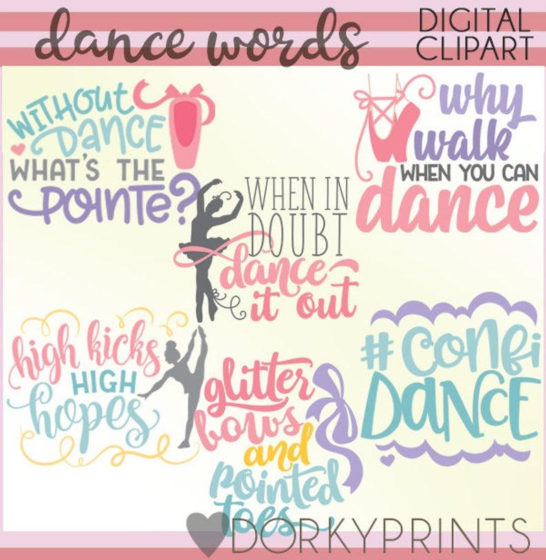Dance Word Art Clipart.