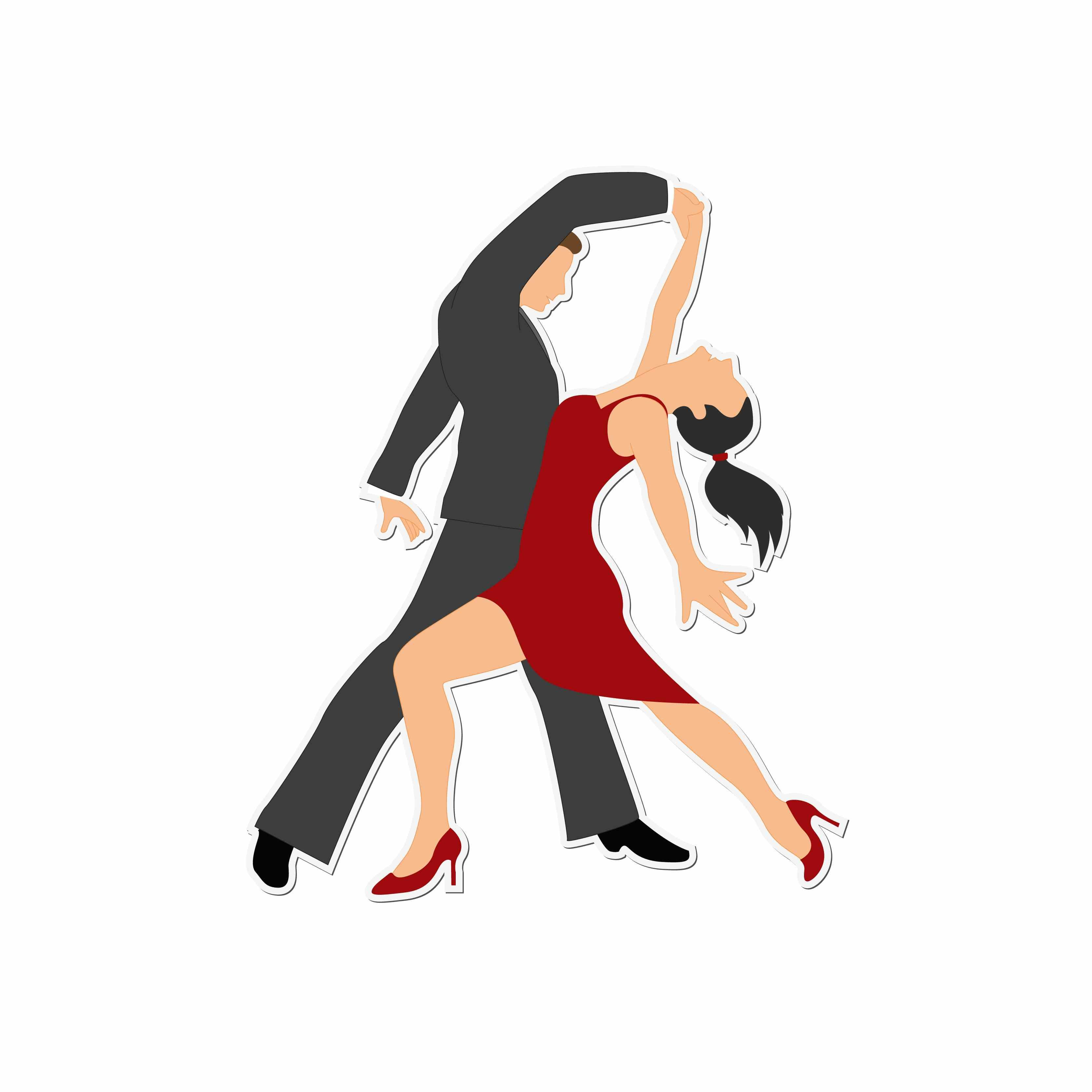Dancing : Clipart for embroidery, Assorted high quality.