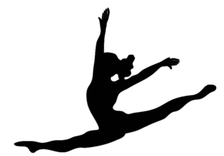 Jazz Dancer Clipart Silhouette.