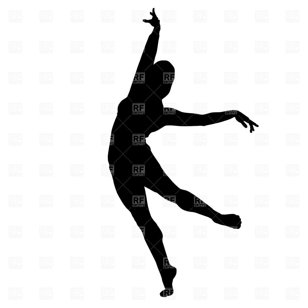 Dancer Silhouette Clipart.