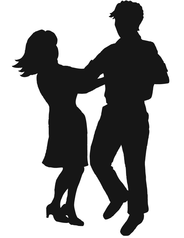 Dancer clipart silhouette free images.