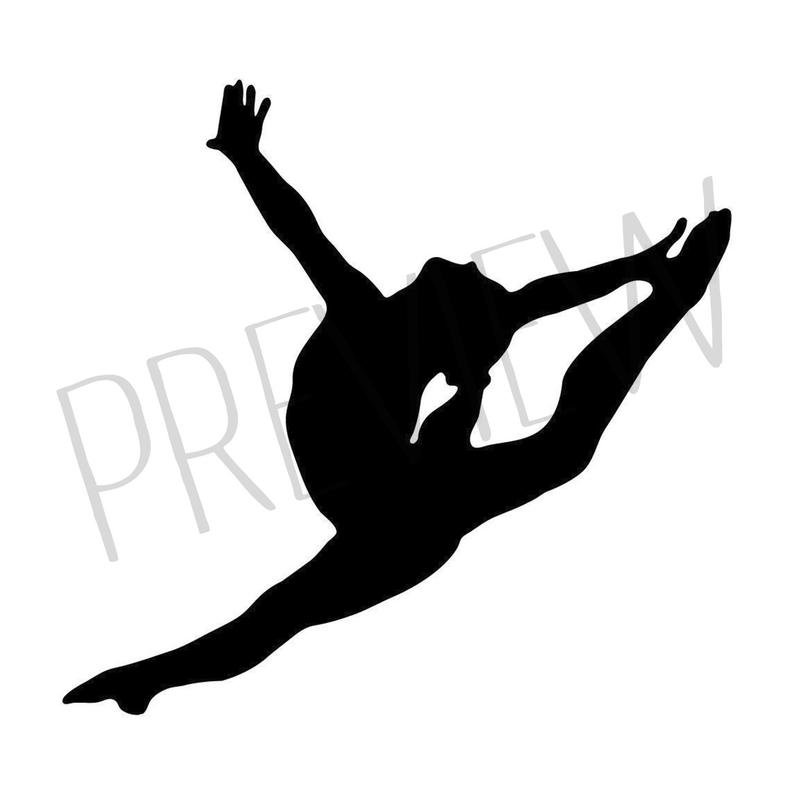 Gymnastics clipart leap for free download and use images in.