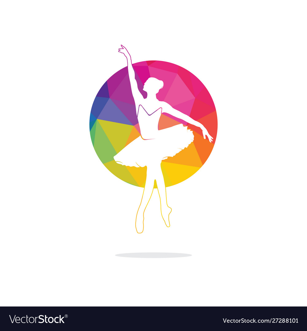 Ballet dancer logo design.
