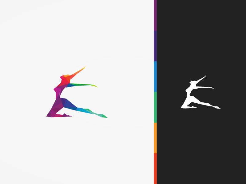 Polygonal Dancer Logo.
