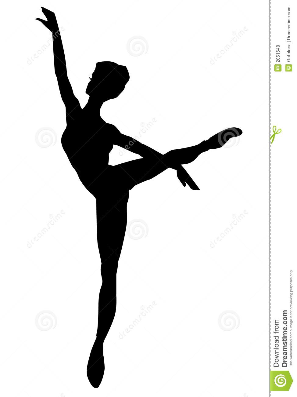 Dancer Silhouette Outline.