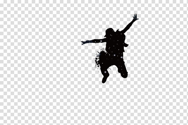 Silhouette of man, Silhouette Dance, Crazy Dancers transparent.