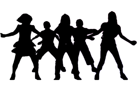Drill Team Dance Silhouette.