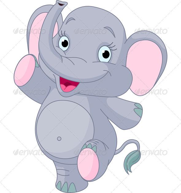 Baby Elephant Dancing.