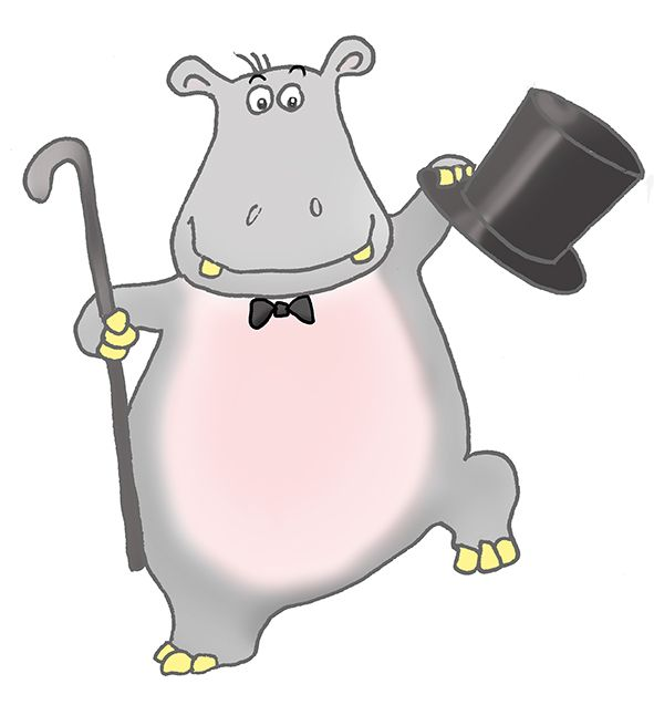 Dancing Hippo Clipart.