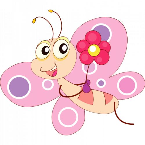 Dancing Butterfly Clipart.