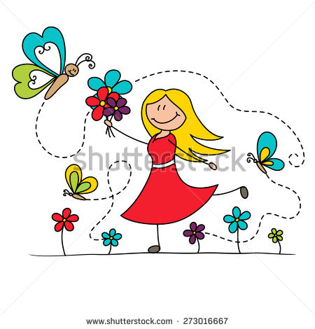 Royalty Free Stock Photos and Images: Young girl dancing with.