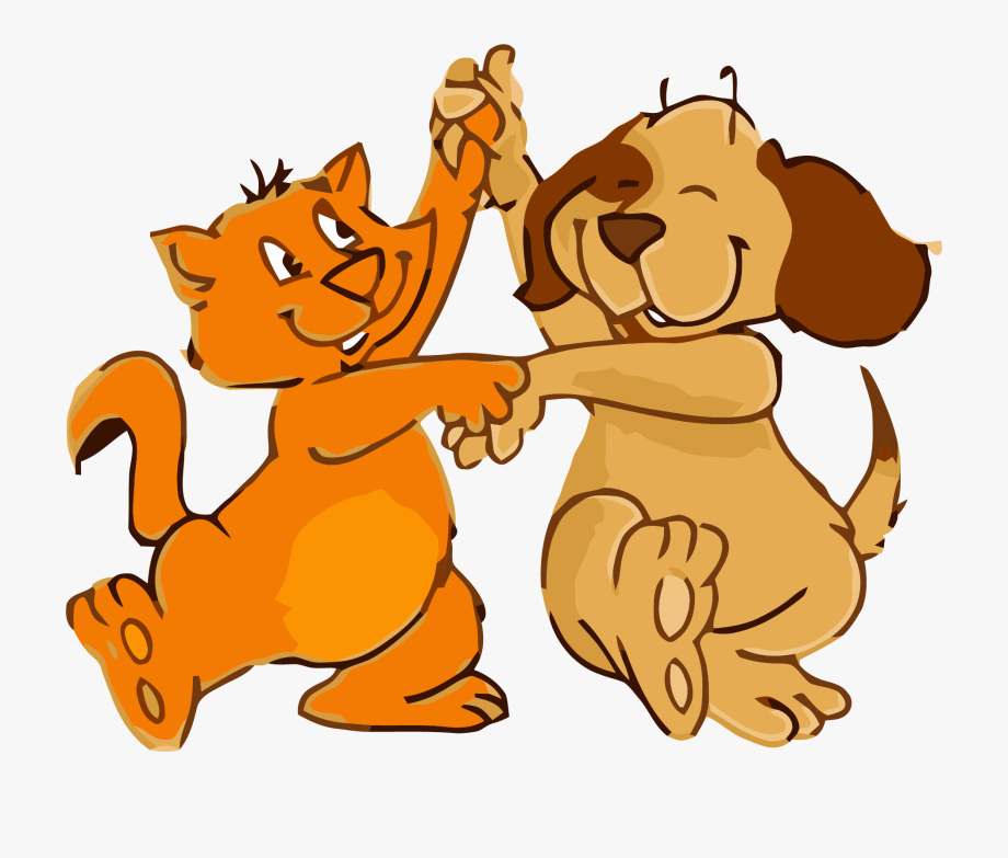 Cat And Dog Dance Png Clipart.