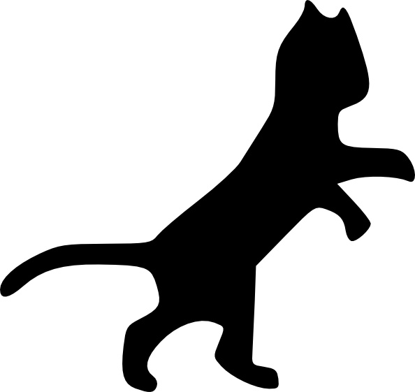 Dancing Cat clip art Free vector in Open office drawing svg.
