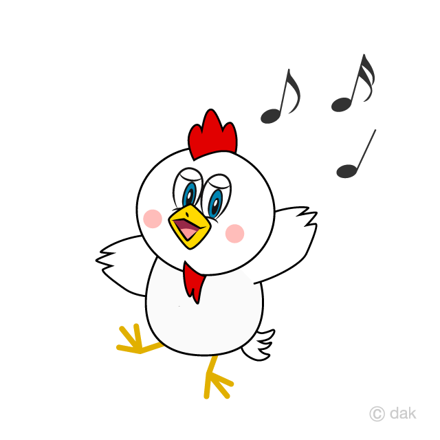 Dancing Chicken Cartoon Free Picture|Illustoon.