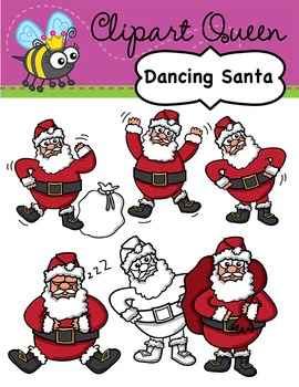 Clipart: Christmas Dancing Santa.