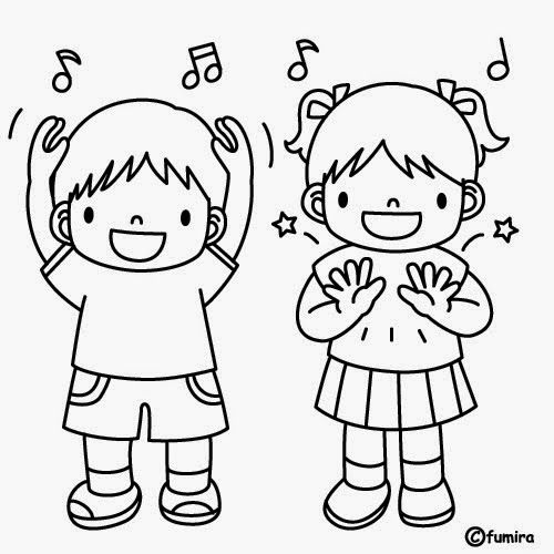 Kids dancing clipart black and white 4 » Clipart Station.