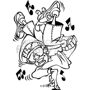Dancing Clipart Black And White.