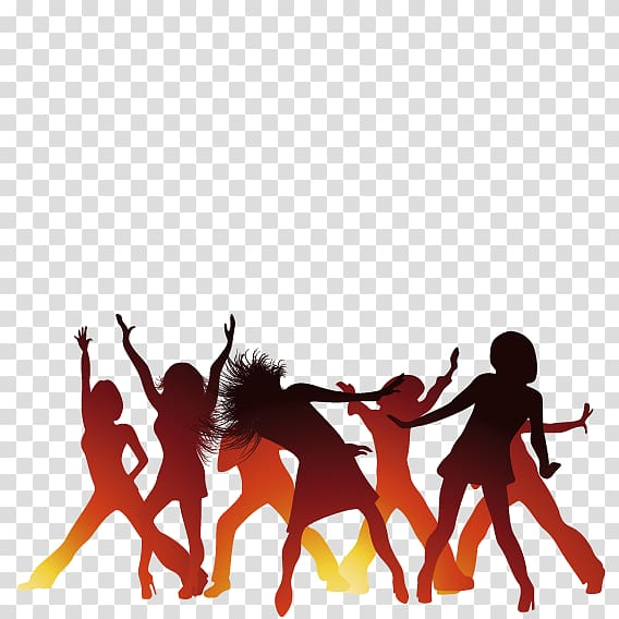 Group of people dancing illustration, Background music Dance.