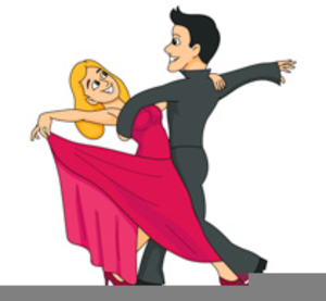 Old Couple Dancing Clipart.
