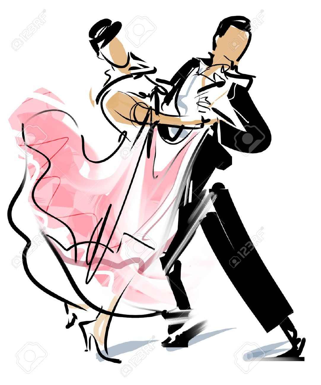 Dancing Couple Clipart.