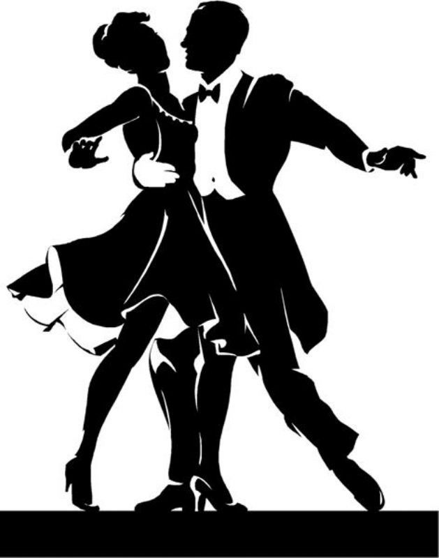 Ballroom dance couple clipart. #dance.