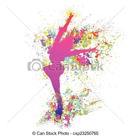 dancing dancer girl man clipart splash #1