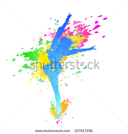 dancing dancer girl man clipart splash #4