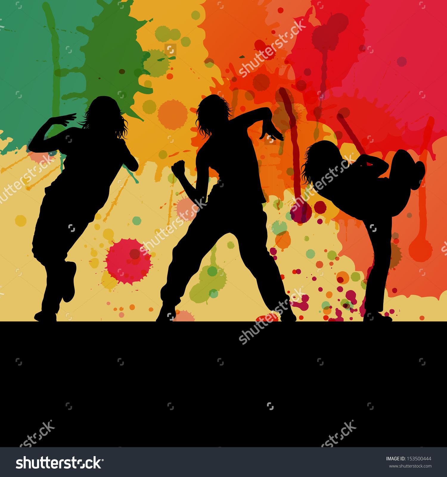Dancing dancer girl man clipart splash.