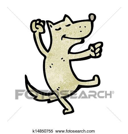 Cartoon dancing dog Clipart.