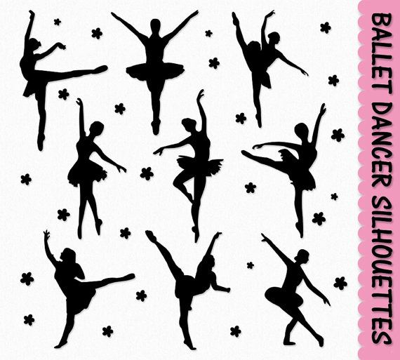 Ballet Dancers Clip Art Graphics Dancing Ballerina Clipart Scrapbook.