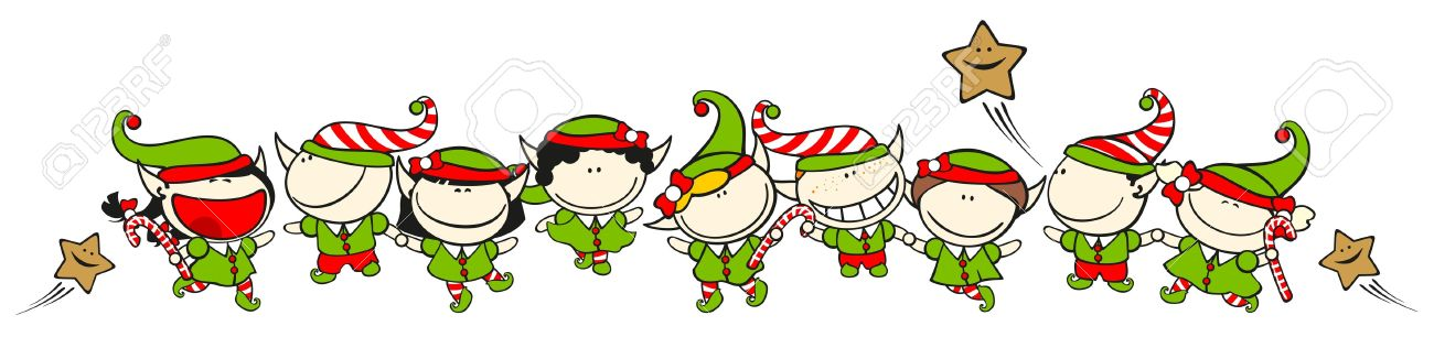 1091 Elves free clipart.