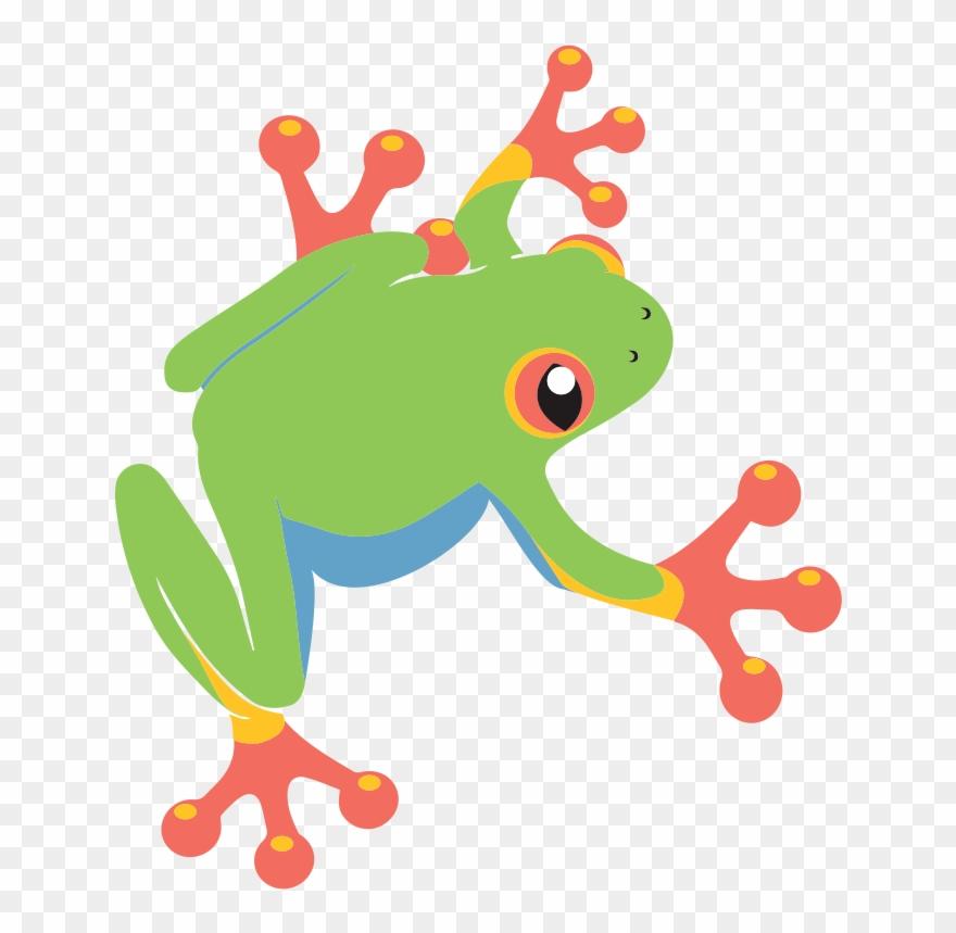 Green Frog Clipart Dancing.