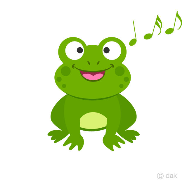 Singing Frog Clipart Free Picture|Illustoon.