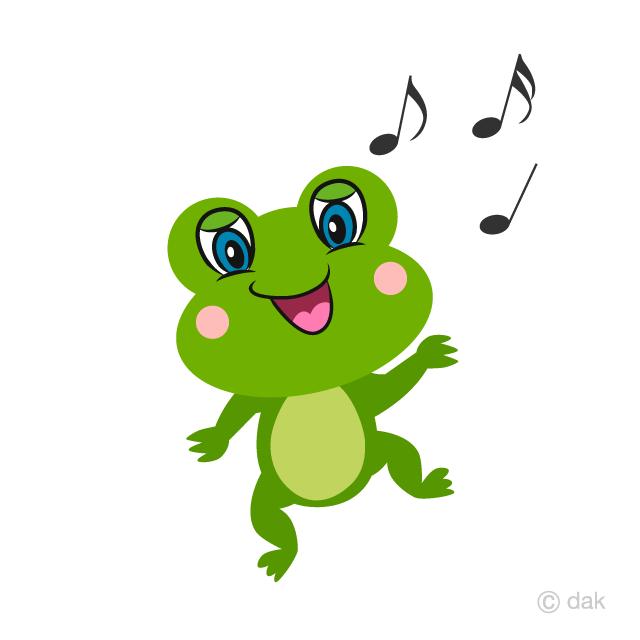 Cute Frog Dancing Cartoon Free Picture|Illustoon.