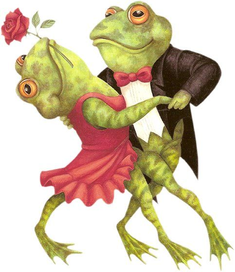 Dancing frogs.