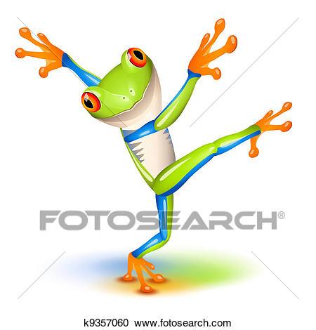 Dancing Tree Frog Clipart.