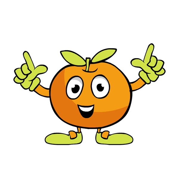 Dancing fruit clipart.