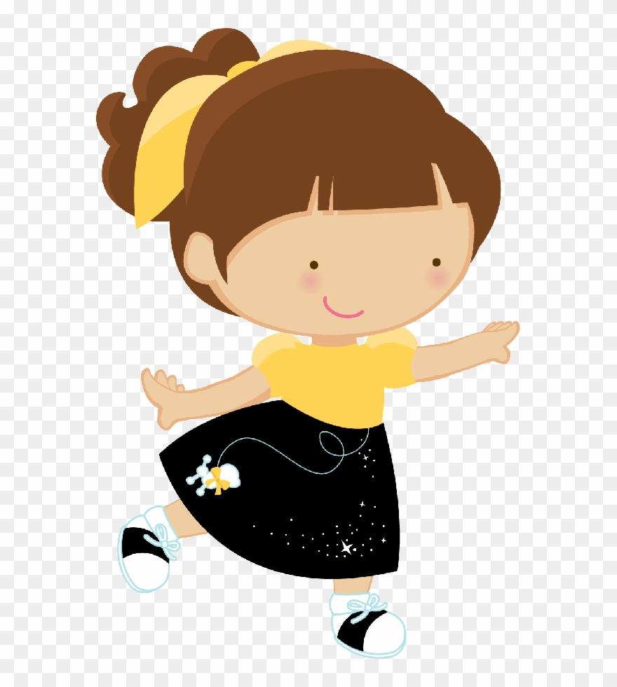 Girl Clipart, Cute Clipart, Girl Dancing, Clip Art.