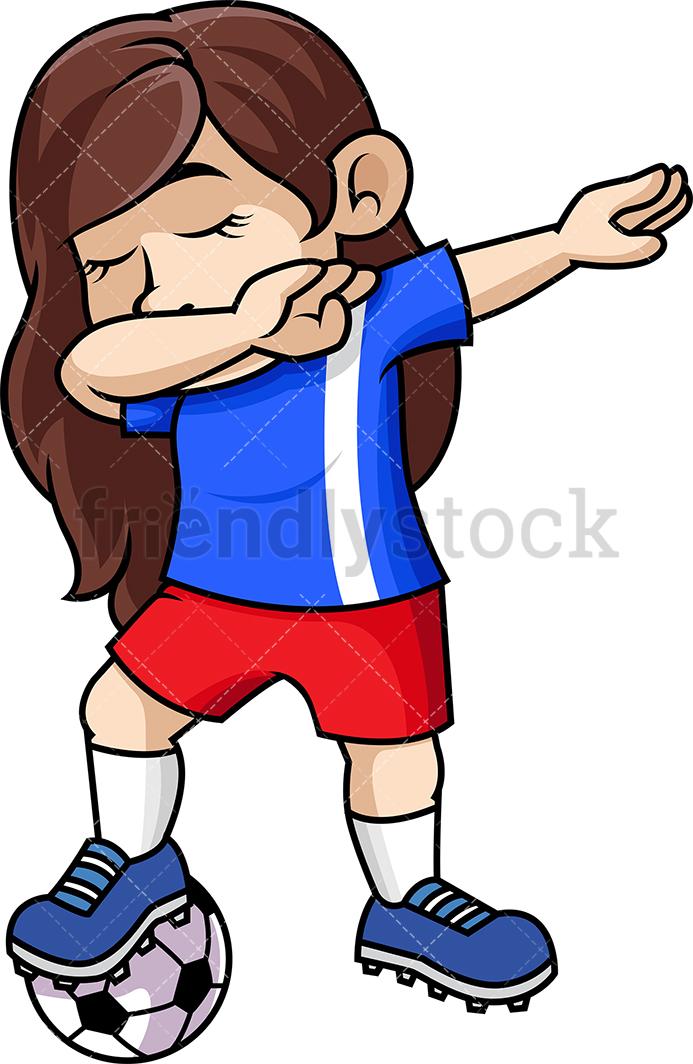 Dabbing Soccer Girl.