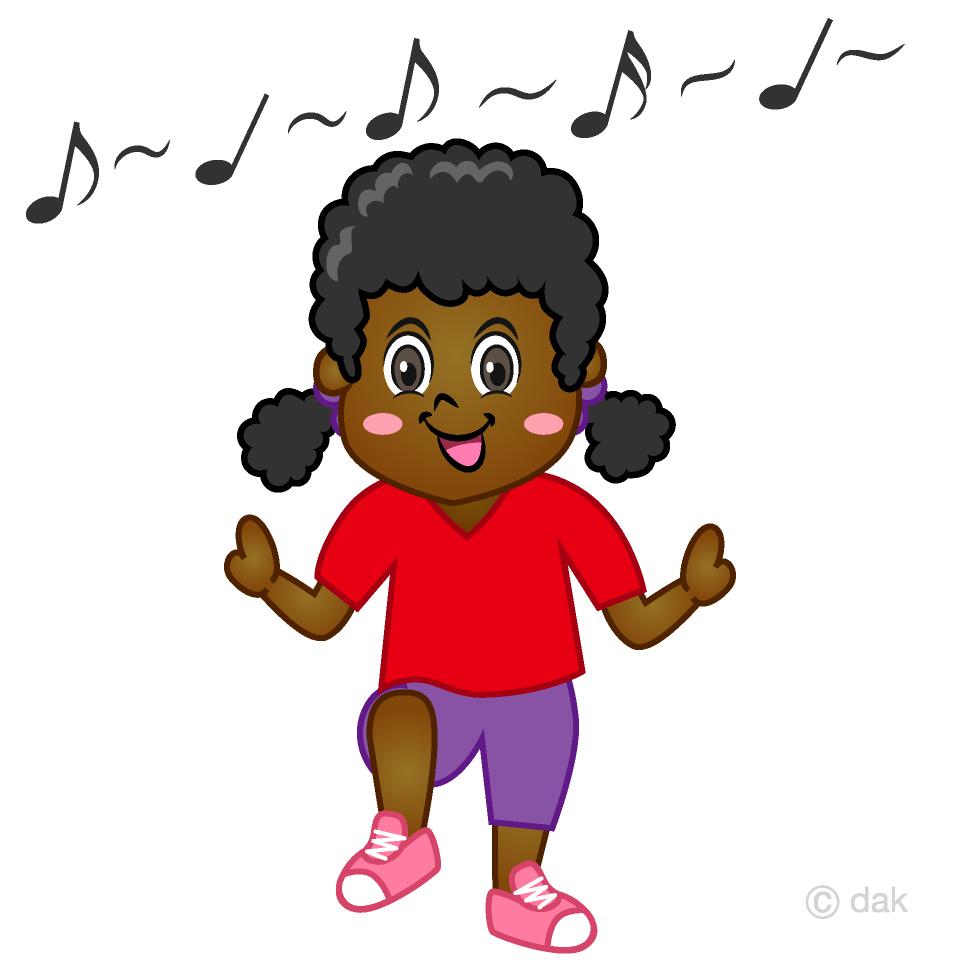 Free Dancing Girl Cartoon Image Illustoon.