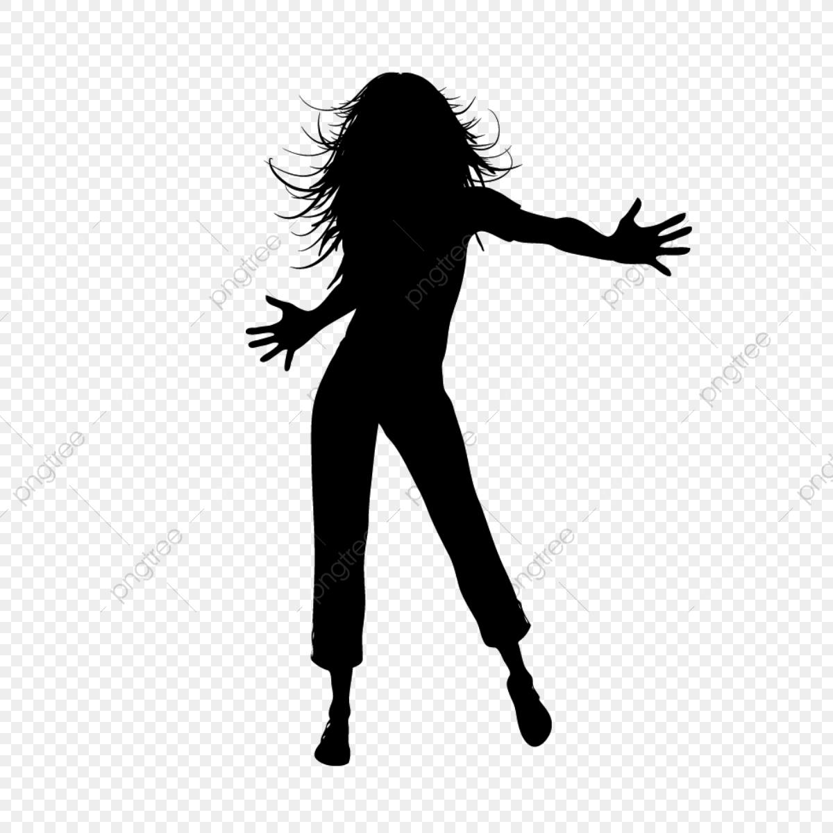 Dancing Girl Silhouette, Family, Family Tree, Girl Dancing PNG.