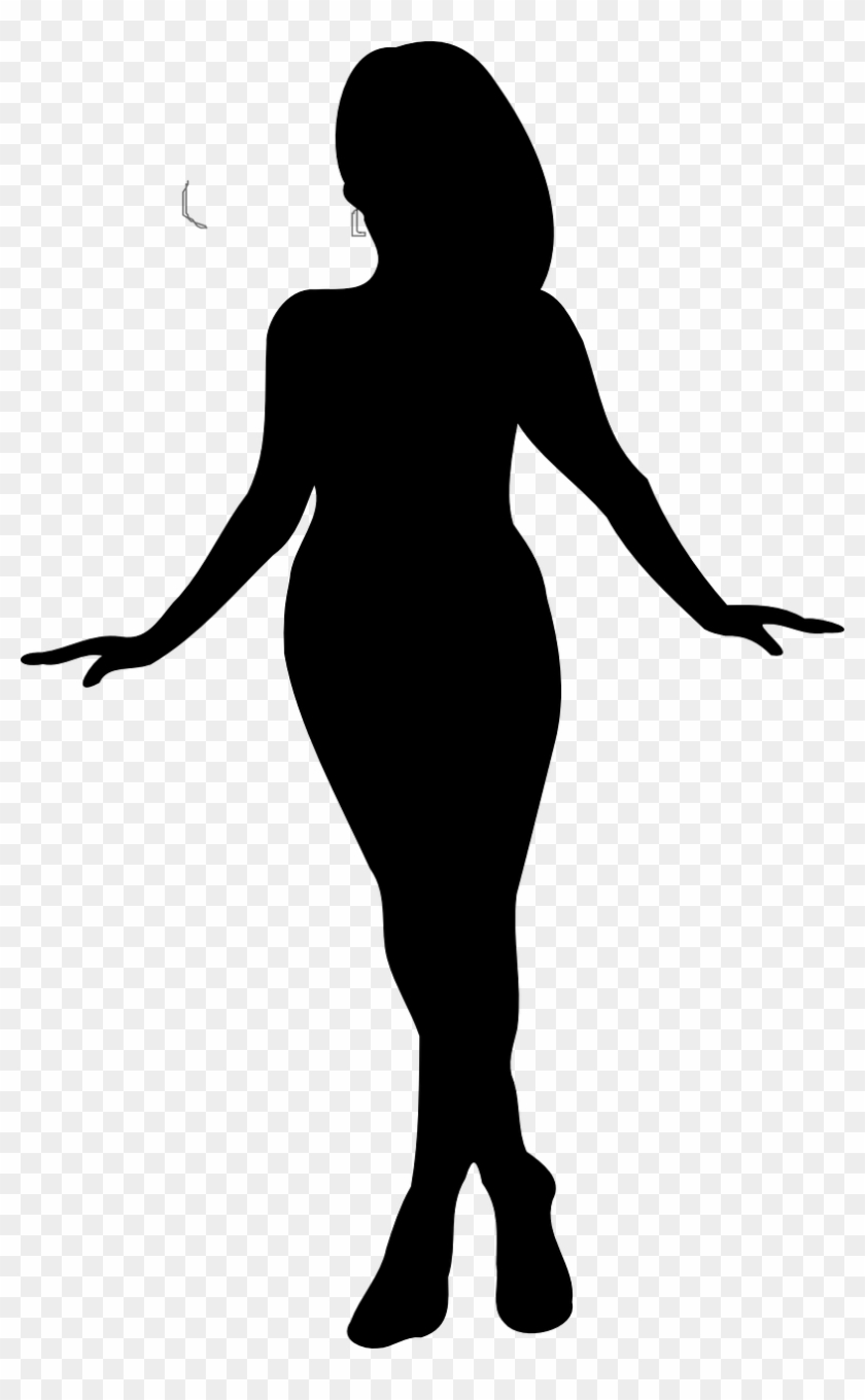 Woman Dance Pirouette Curvy Png Image.