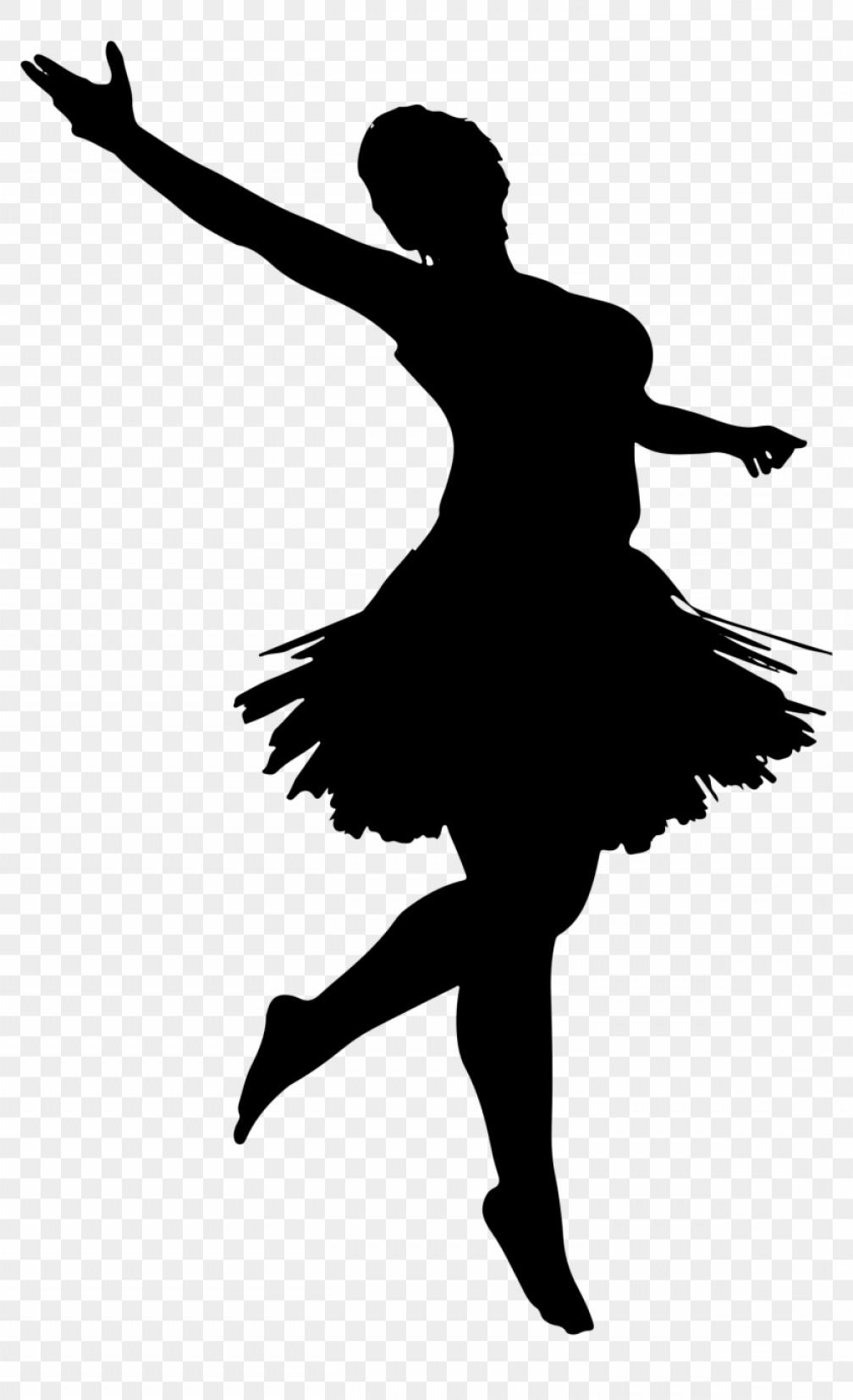 Mibibadiballerina Silhouette Dancing Girl Vector Png.