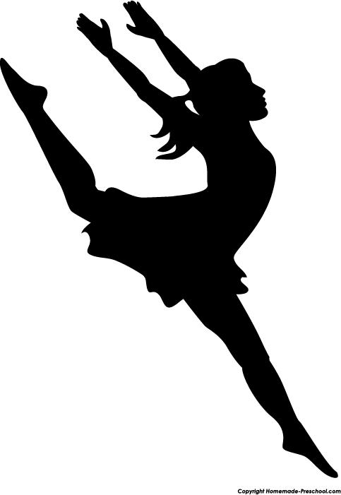 Dancing Girl Silhouette.