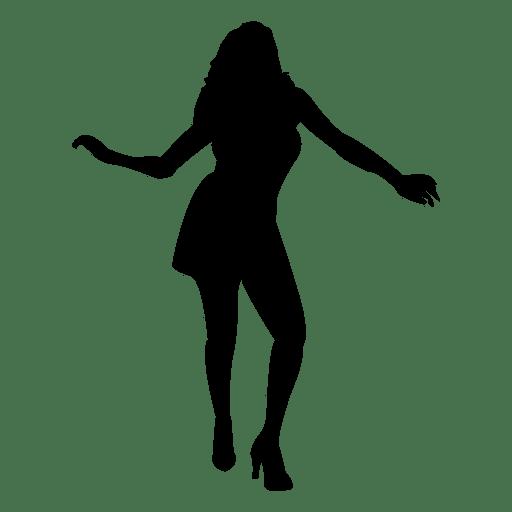 Sexy woman dancing silhouette.