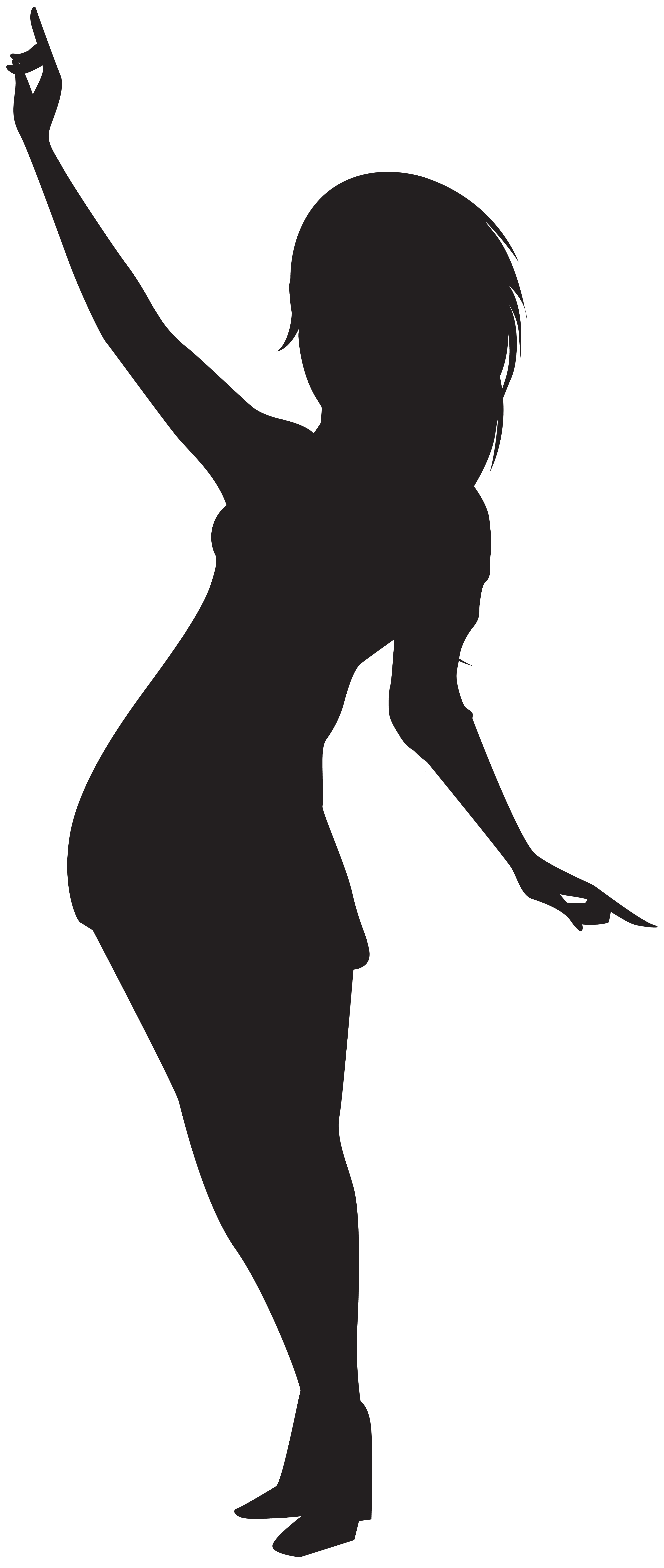 Dancing Girl Silhouette PNG Clip Art.